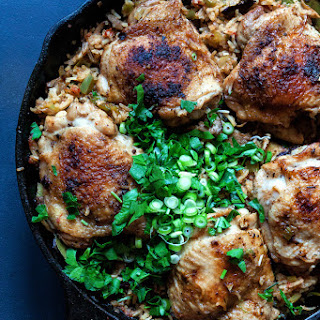 Creole Chicken with Mushroom Dirty Rice