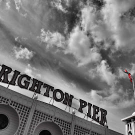 Sky over Pier by Steve Williams - City,  Street & Park  Amusement Parks