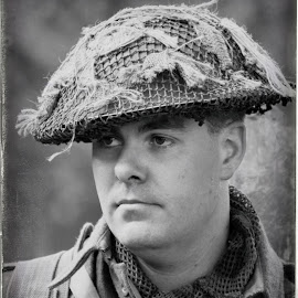 British Tommy by Steven Carpenter - Black & White Portraits & People