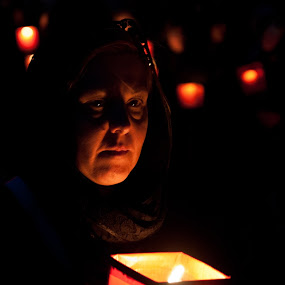 siciliana by Vito Dell'orto - People Portraits of Women ( lights, sicilt, red, religiousity, strega )
