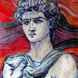 the head of David by Vesna Disich - Drawing All Drawing ( art, head )