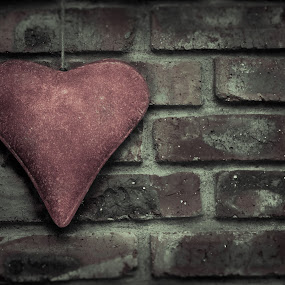Heart of the house by Nardus Taljard - Artistic Objects Other Objects ( love, brick wall, brick, ornament, artistic object, antique )