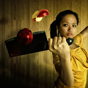 fruit ninja by Jan Michael Vincent Castillo - Digital Art People ( apple, pokleng, jo yvette, slice, poks, jan michael vincent castillo, kristine david )
