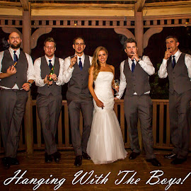 Hanging with the boys. by Matthew Chambers - Typography Captioned Photos ( groomsmen, wedding photography, being bad, matthew chambers photography, creekside, austin wedding photographer, texas wedding, cigar, wedding, smoking, bride and groom, wedding photographer, bride, groom )