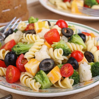 Broccoli Cauliflower Pasta Salad Cheese Recipes