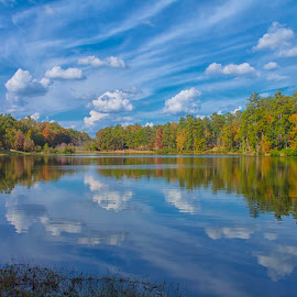 A Sunny Fall Reflection by Thomas Vasas - Landscapes Waterscapes ( scenics, lakes, reflections, waterscapes, landscapes )