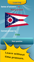 Screenshot of 50 US States Quiz