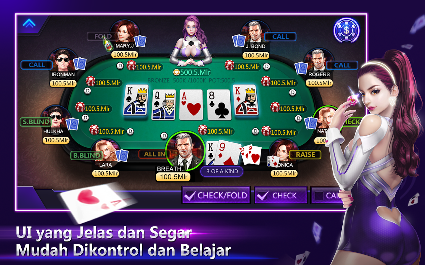 Poker Time -Pulsa Texas Holdem Screenshot 1