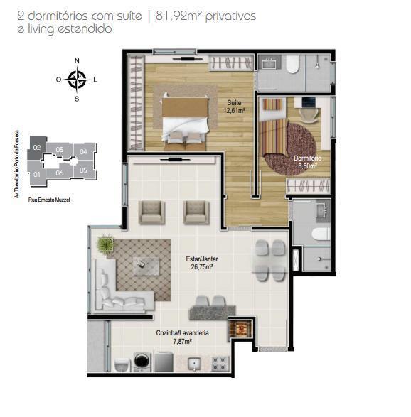 Planta 2 dormitórios - Final 2