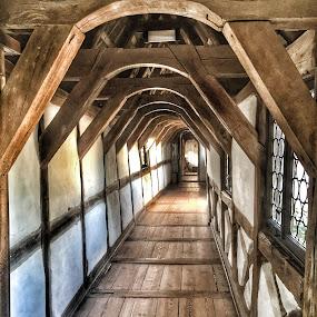 Wartburg Castle Hallway by Briana Jones - Buildings & Architecture Architectural Detail ( castle, germany, historic )