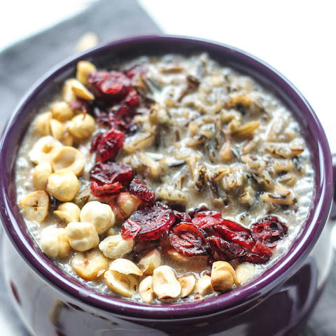 Cranberry Hazelnut Wild Rice Porridge