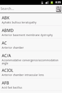 Ophthalmic Abbreviation - screenshot