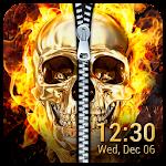 Fire Skull Zipper Lock Screen App on PC / Windows 7.8.10 & MAC