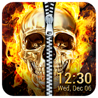 Fire Skull Zipper Lock Screen App on PC / Windows 7.8.10 & MAC