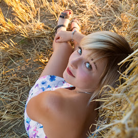 I found a little fawn by Klaus Müller - People Street & Candids ( girl, straw, eyes )