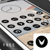 Dark Void Free - Black Circle Icons