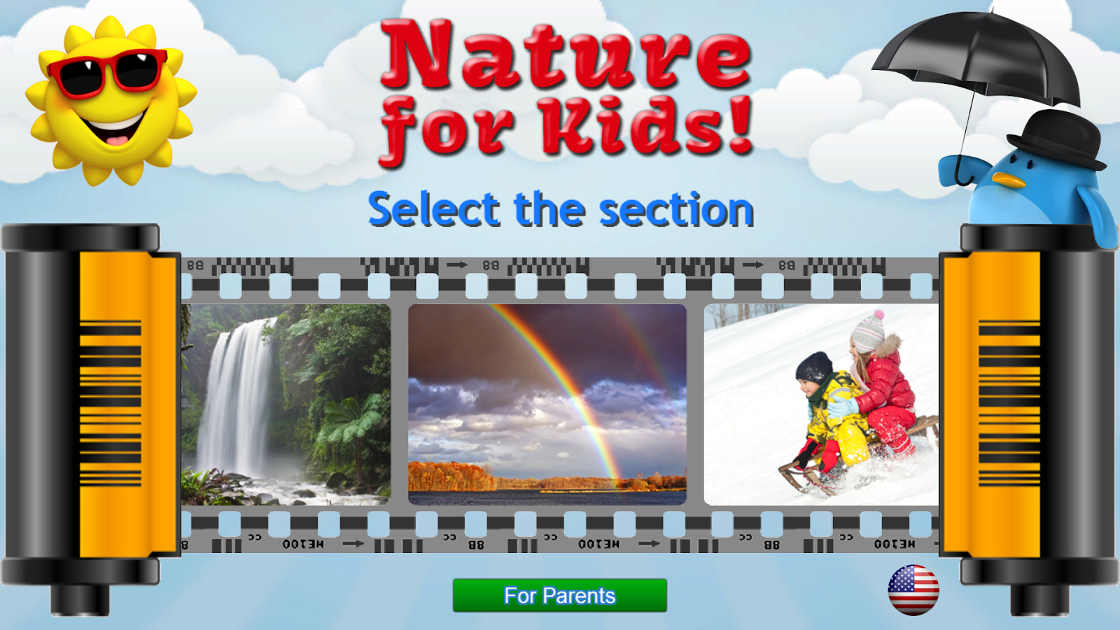 Nature for Kids - Flashcards Screenshot 0