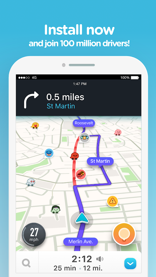 Waze - GPS, Maps, Traffic Alerts & Live Navigation Screenshot 4