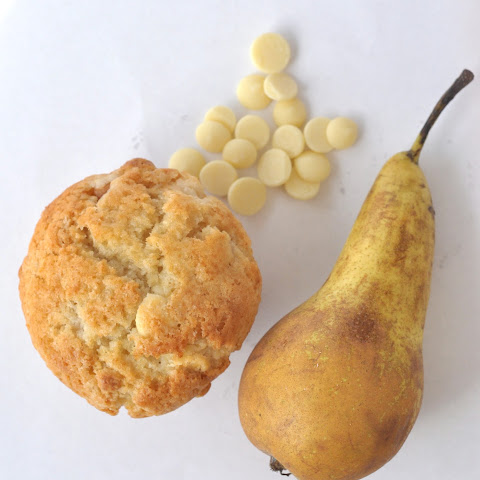 Pear & White Chocolate Chip Muffins