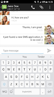 SMS from Android 4.4 Screenshot