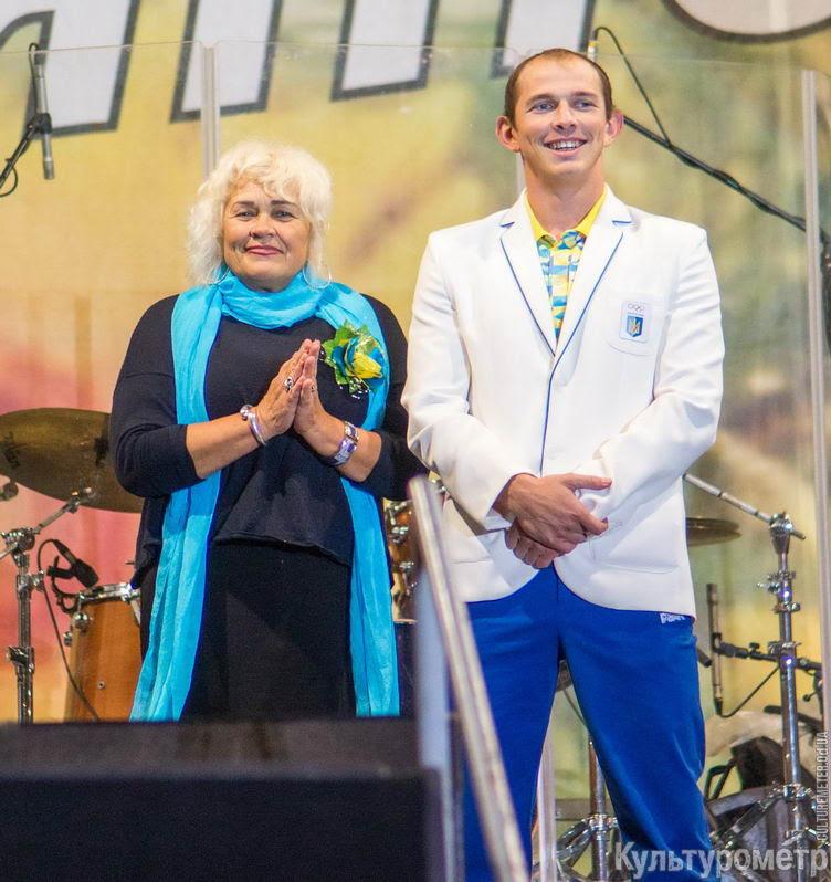 Вместе с мамой Людмилой Чебан - первым тренером.