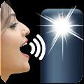 Speak to Flashlight on/off