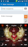 Screenshot of Red Heart Flame Keyboard