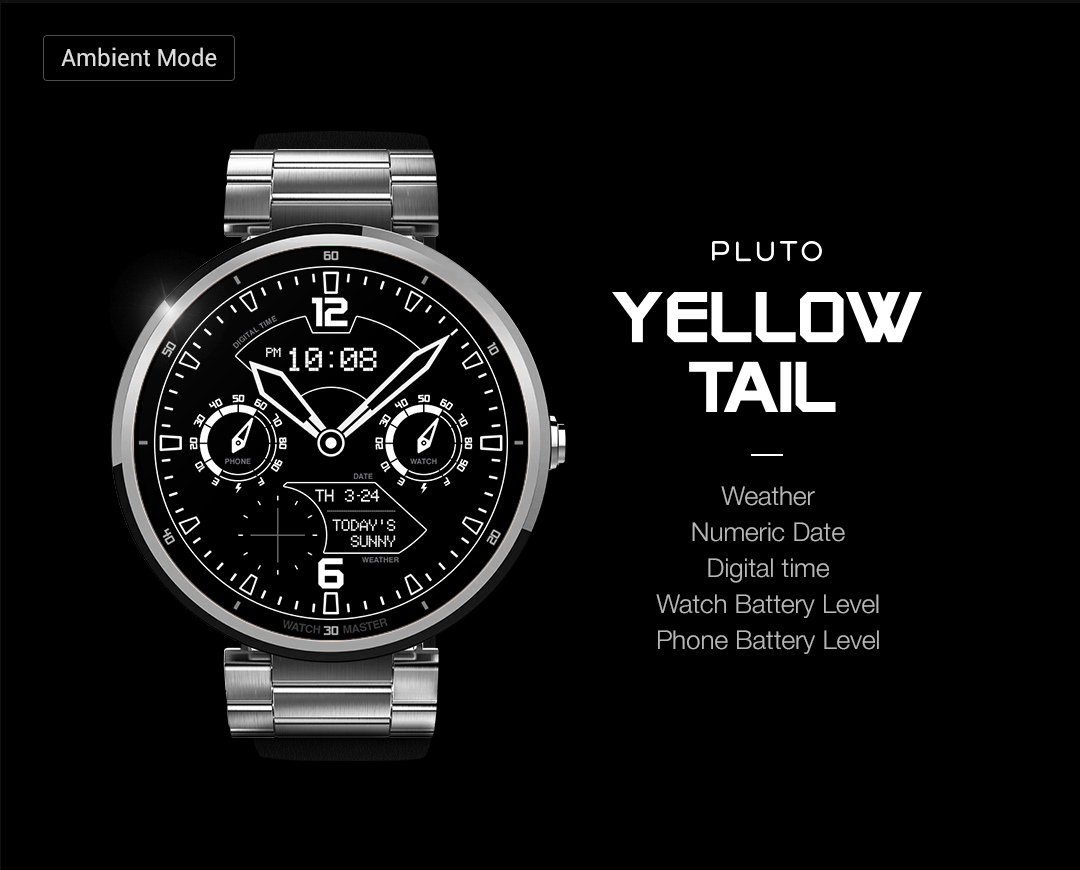 YellowTail watchface by Pluto Screenshot 3