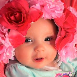 Flower Baby by Cheryl Korotky - Babies & Children Babies