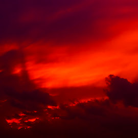 Sky On Fire by Mike Williams - Landscapes Sunsets & Sunrises ( clouds, sky, sunset, landscape, sun, fire,  )