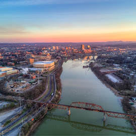 Downtown knoxville sunrise by R Jay Prusik - City,  Street & Park  Skylines