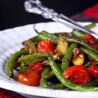 Green Beans Tomatoes and Almonds with Sumac