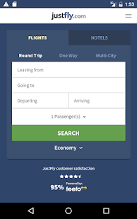 Justfly.com - screenshot