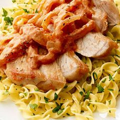 Sweet and Savory Pork with Egg Noodles