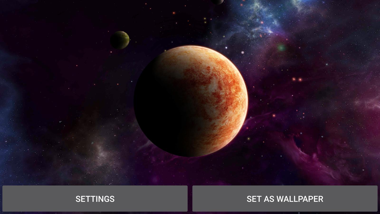 Planets Live Wallpaper Screenshot 17