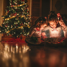 Magic of Christmas  by Jody McDonald - Public Holidays Christmas ( holiday, sisters, family, christmas, children, people )