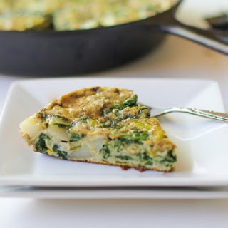 in my baked leek spinach frittata frittata with spinach asparagus leek ...
