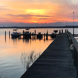 New day by Keith Redmon - Nature Up Close Water ( water, sunrise, dock )