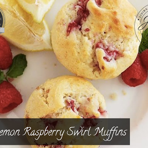 Lemon Raspberry Swirl Muffins