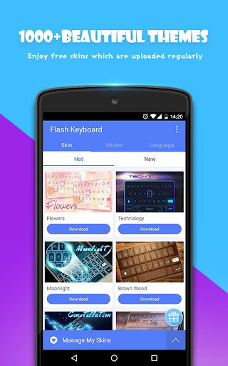 Flash Keyboard - Emoji & Theme screenshot 3