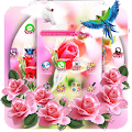 Pink Rose Flower Love Launcher