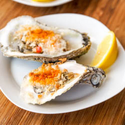 Boiled Oysters with Spicy Mayo Panko Sauce