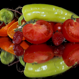 vegetables with fruits by LADOCKi Elvira - Food & Drink Fruits & Vegetables ( vegetables )