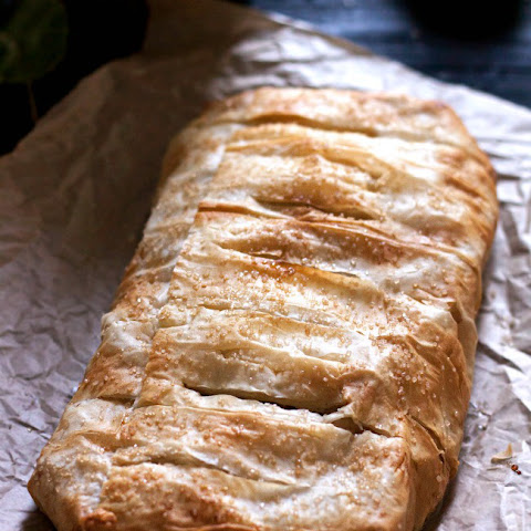 Apple Walnut Strudel with Cardamom