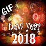 Happy New Year GIF 2018 Icon