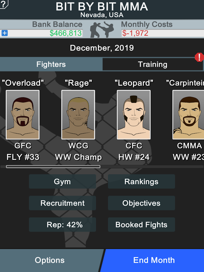 MMA Manager Screenshot 5