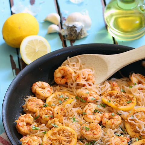 Low Carb Lemon Garlic Shrimp Pasta