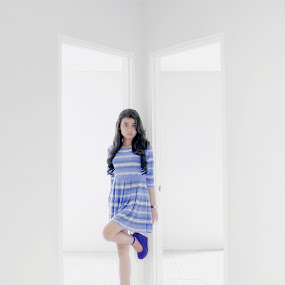 doors light by Dimas Winarto - People Fashion ( doors, center, blue, cute, light )