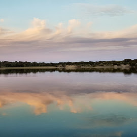 Bubble By.Skies by Kim Pauly - Novices Only Landscapes ( sunset #pink #marloaustralia #landscape #reflection )