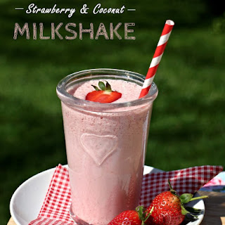 Strawberry and Coconut Milkshake